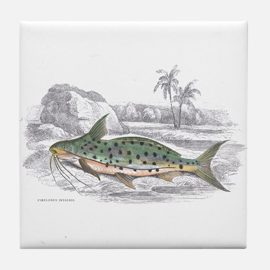 Catfish Fish Tile Coaster