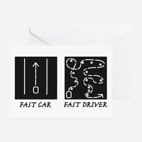 Fast Car Fast Driver Greeting Card