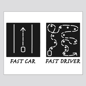 Fast Car Fast Driver Small Poster