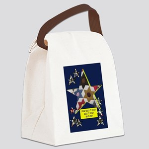 Stars Canvas Lunch Bag