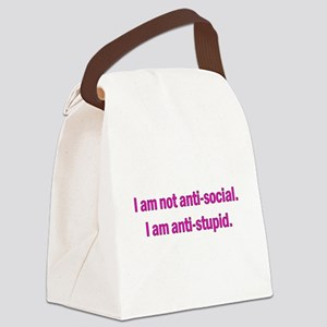 Anti-social Pink Canvas Lunch Bag
