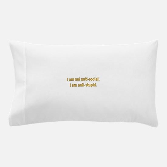 Anti-social Yellow Pillow Case