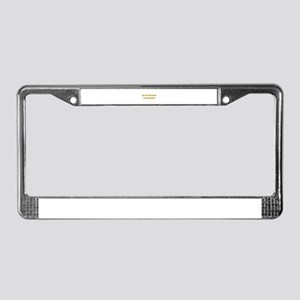 Anti-social Yellow License Plate Frame