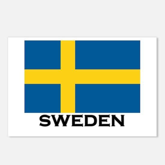 Sweden Flag Stuff Postcards (Package of 8)