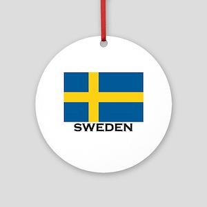 Sweden Flag Stuff Ornament (Round)