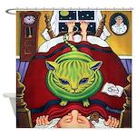 Alien Abduction Cat Shower Curtain