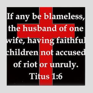Titus 1:6 Tile Coaster