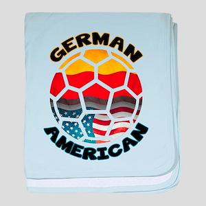 German American Football Soccer baby blanket