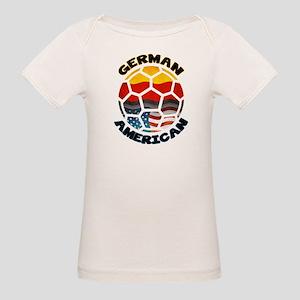 German American Football Soccer Organic Baby T-Shi