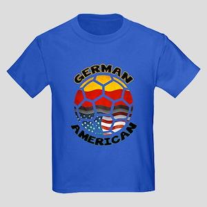 German American Football Soccer Kids Dark T-Shirt