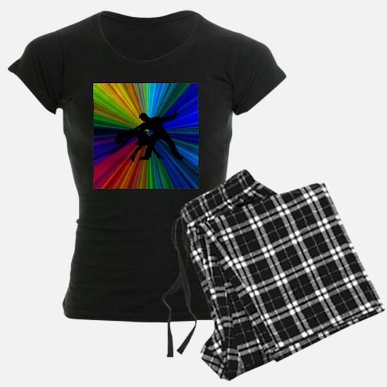 Dazzling Dance Silhouettes Pajamas