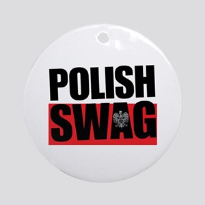 Polish Swag Round Ornament