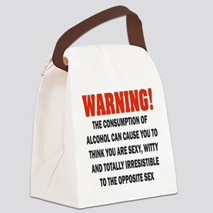 WARNING IRRESISTABLE Canvas Lunch Bag