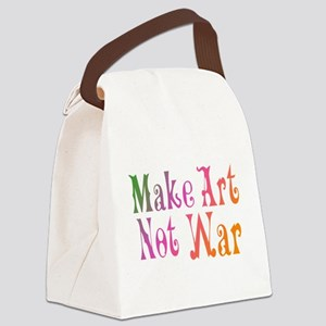 make art not war Canvas Lunch Bag