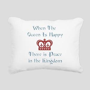 Queen is happy Rectangular Canvas Pillow
