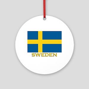 Sweden Flag Merchandise Ornament (Round)