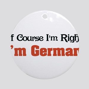 Im German Ornament (Round)