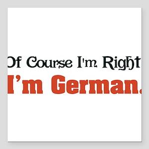 "Im German Square Car Magnet 3"" x 3"""