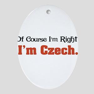 Im Czech Ornament (Oval)