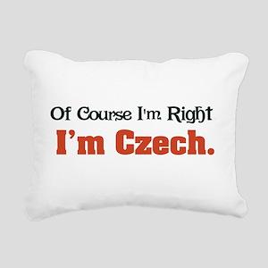 Im Czech Rectangular Canvas Pillow