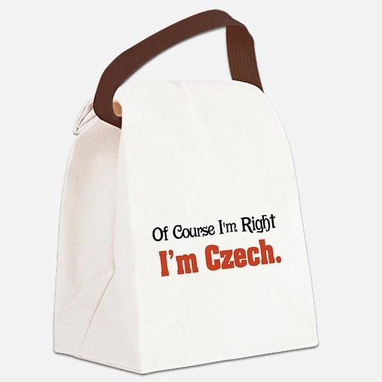Im Czech Canvas Lunch Bag