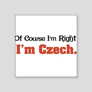 "Im Czech Square Sticker 3"" x 3"""