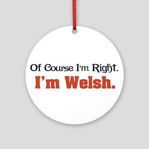 Im Welsh Ornament (Round)