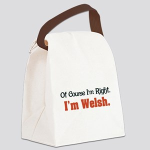 Im Welsh Canvas Lunch Bag