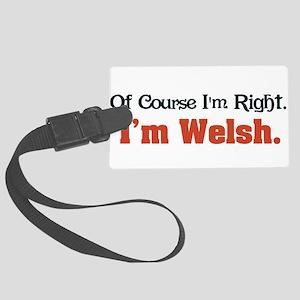 Im Welsh Large Luggage Tag