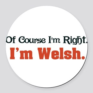 Im Welsh Round Car Magnet