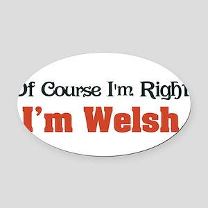 Im Welsh Oval Car Magnet