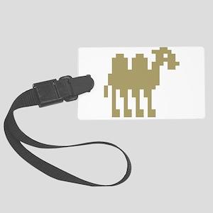 pixel camel Large Luggage Tag