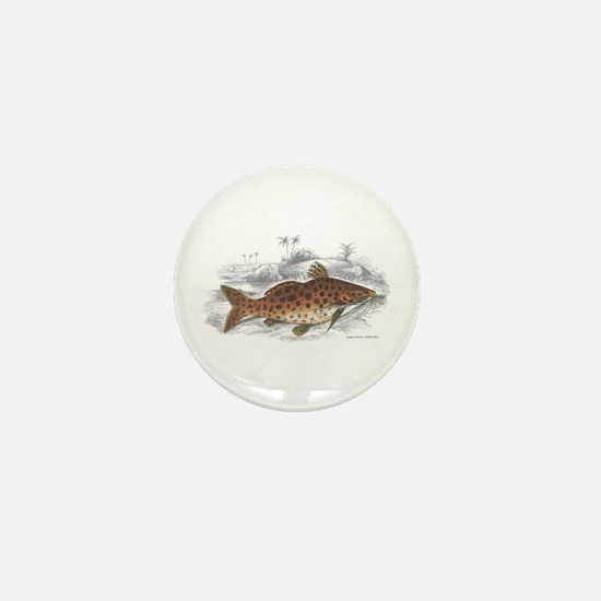 Catfish Fish Mini Button