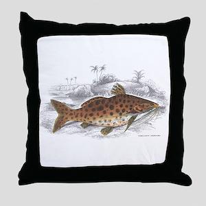 Catfish Fish Throw Pillow