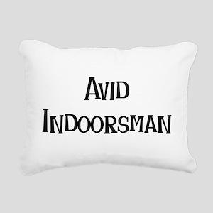 avid indoorsman Rectangular Canvas Pillow