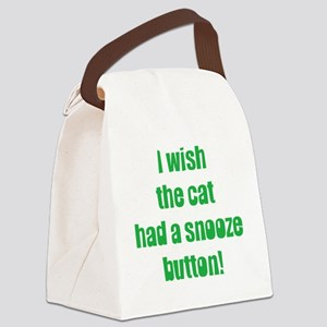 snooze button Canvas Lunch Bag