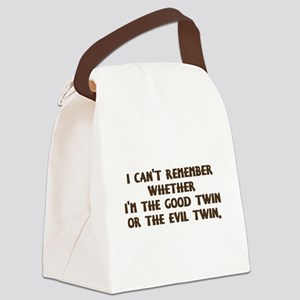 Good Twin or Evil Twin? Canvas Lunch Bag