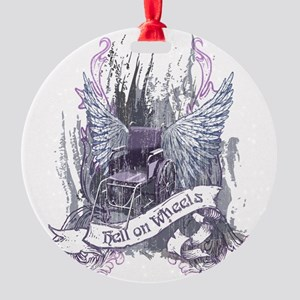 Hell on Wheels Round Ornament