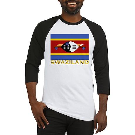 Flag of Swaziland Baseball Jersey