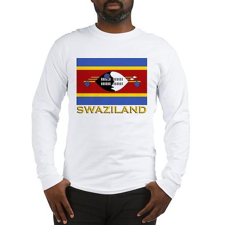Flag of Swaziland Long Sleeve T-Shirt