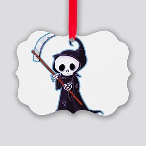 Cute Little Death Picture Ornament