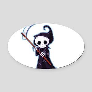 Cute Little Death Oval Car Magnet