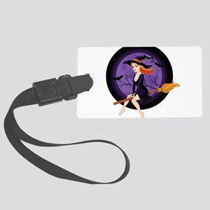 Red Headed Witch Large Luggage Tag