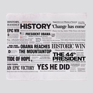 Obama 2008/2012 Headlines Throw Blanket