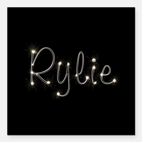 "Rylie Spark Square Car Magnet 3"" x 3"""
