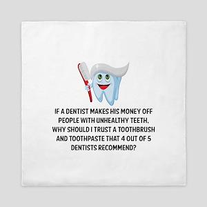 Funny Dentist Recommend Queen Duvet