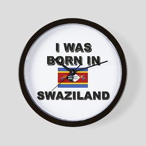 I Was Born In Swaziland Wall Clock