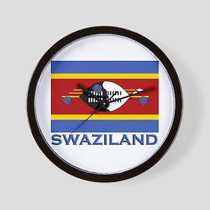 Swaziland Flag Stuff Wall Clock