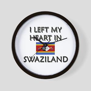 I Left My Heart In Swaziland Wall Clock
