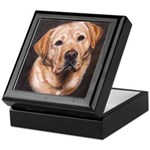 Yellow Labrador Retriever Painting Keepsake Box